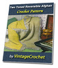 Thumbnail Two Toned Reversible Afghan Vintage Crochet Pattern eBook