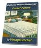 Thumbnail California Modern Bedspread Vintage Crochet Pattern