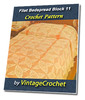 Thumbnail Filet Block 11 Bedspread Vintage Crochet Pattern