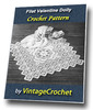 Thumbnail Filet Valentine Doily Vintage Crochet Pattern