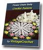 Thumbnail Flower Chain Doily Vintage Crochet Pattern