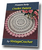 Thumbnail Flowers Doily Vintage Crochet Pattern