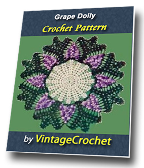 Product picture Grape Doily Vintage Crochet Pattern