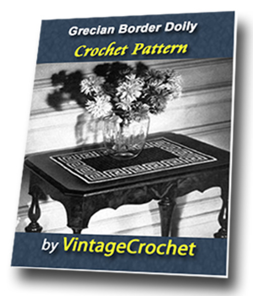 Product picture Grecian Border Doily Vintage Crochet Pattern