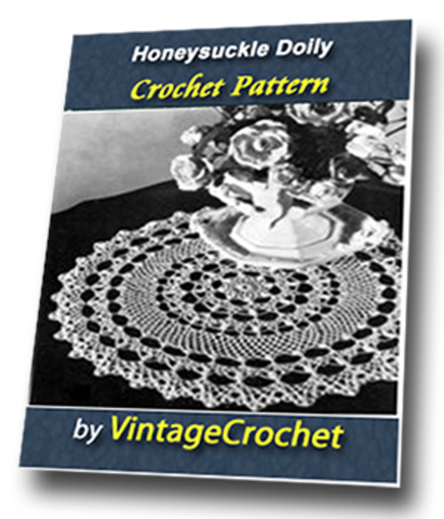 Product picture Honeysuckle Doily Vintage Crochet Pattern
