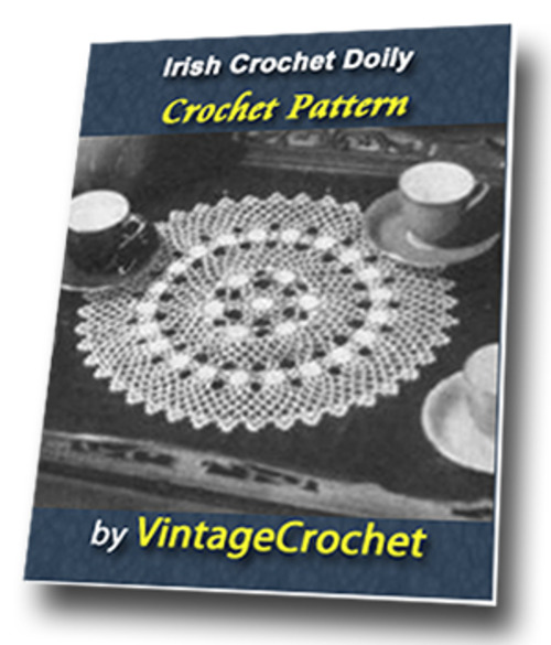 Product picture Irish Crochet Doily Vintage Crochet Pattern