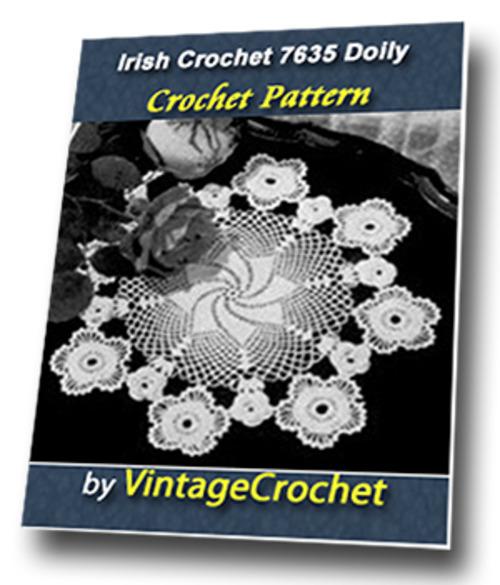 Product picture Irish Crochet 7653 Doily Vintage Crochet Pattern